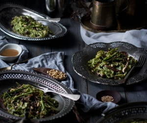 asparagus, vinaigrette, and kale image