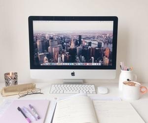 study, apple, and school image