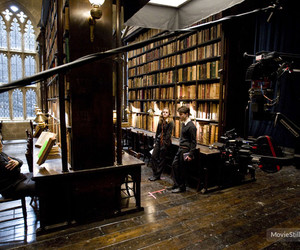 behind the scenes, harry potter, and hermione granger image