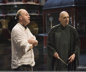 behind the scenes, harry potter, and voldemort image