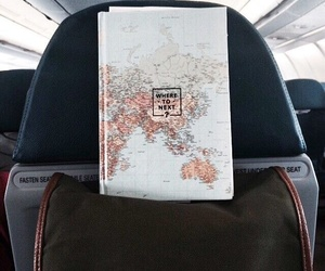 airplane, fly, and map image