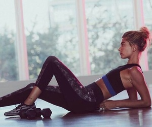 muscles, workout, and yoga image