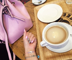 nail, blogger, and coffee image