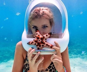 girl, pretty, and ocean image