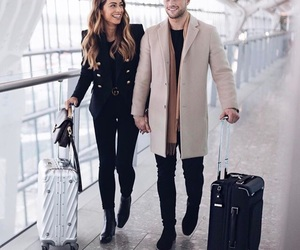 couple, fashion, and travel image
