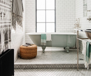 interior, bathroom, and bohemian image