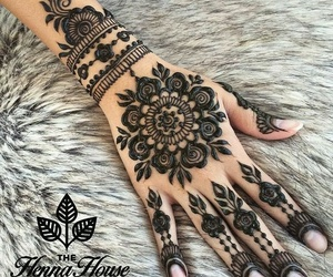 design, flower, and henna image