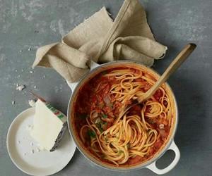 spaghetti, food, and yummy image