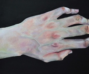 art, hand, and pale image
