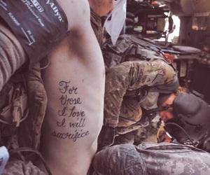 tattoo, love, and sacrifice image