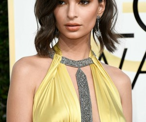 golden globes and emily ratajkowski image