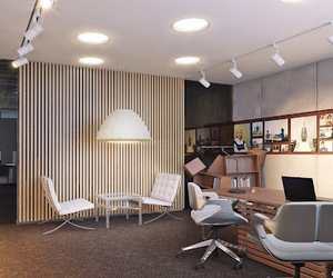 office, 3d visualization, and 3d render visualization image