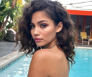 beautiful, girl, and swimming pool image