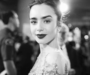 lily collins and golden globes image