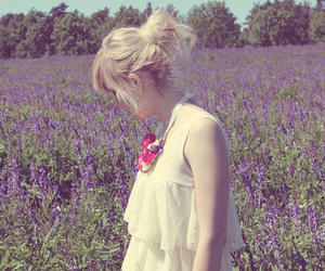 color, fashion, and flowers image