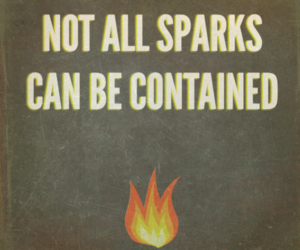 hunger games, catching fire, and sparks image
