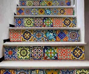 colores, escaleras, and talavera image