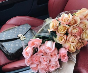 roses, flowers, and Louis Vuitton image