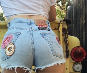 ass, shorts, and bitch image