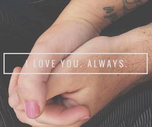 hands, tattoo, and love image