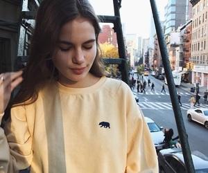 fashion, yellow, and sweater image