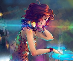 girl, magic, and music image