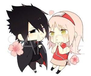 chibi, naruto, and sasuke image