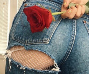 ass, red, and rose image