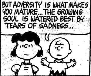 charlie brown, quotes, and adversity image