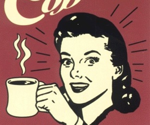 cofee, red, and vintage image