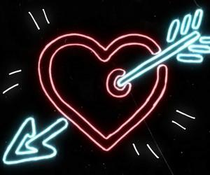 heart, neon, and ed sheeran image