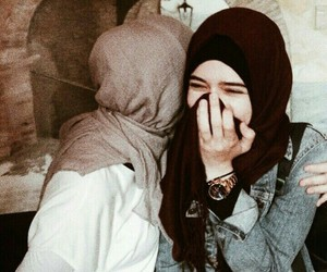 beautiful, girl, and hijab image