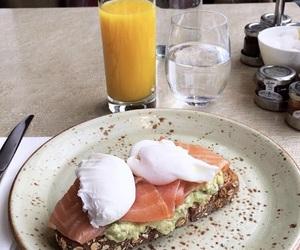 avocado, breakfast, and salmon image