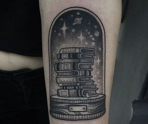 books and tattoo image