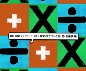 ed sheeran, math, and divide image