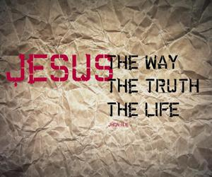 jesus, god, and the truth image
