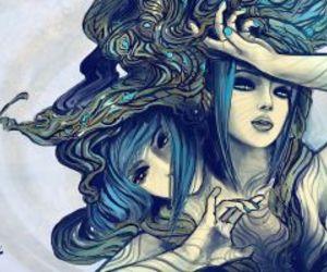 art, gemini, and zodiac signs image