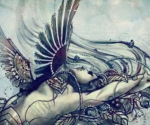 art, virgo, and zodiac signs image
