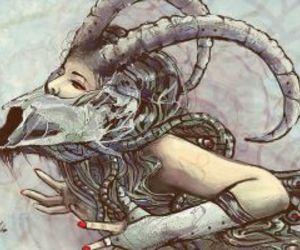 capricorn, art, and zodiac image