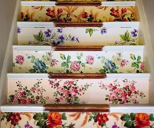 flowers, stairs, and floral image