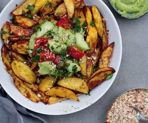avocado, beautiful, and chips image