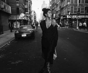 model, black and white, and imaan hammam image