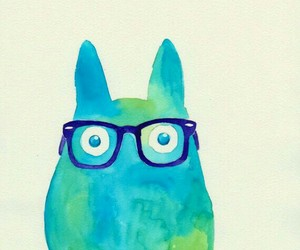 hipster, totoro, and wallpaper image