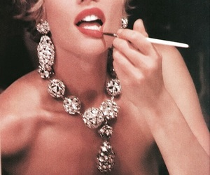 makeup, vintage, and jewelry image
