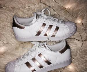 adidas, superstar, and rose gold image