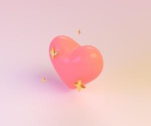 heart, pink, and emoji image