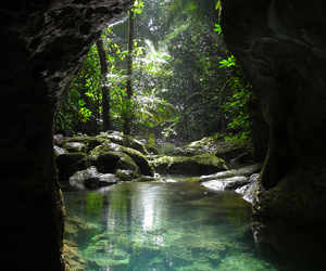 nature, water, and cave image