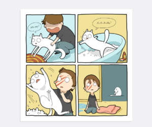 cat, comics, and funny image