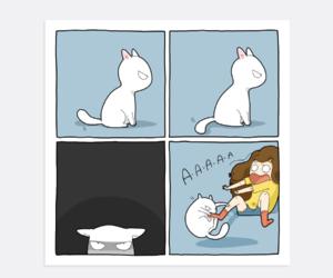 cat, comics, and funny image