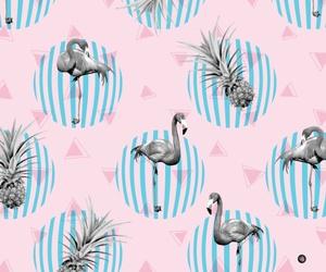 flamingo, pineapple, and pink image